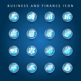 Business and Finance set of icon vector. Eps 10 vector Royalty Free Stock Photo