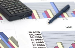 Business and finance-shallow dof Royalty Free Stock Photography