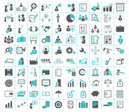 Business, finance, shipping and office icons. Set of 100 business, finance, shipping, industry and office icons Stock Photos
