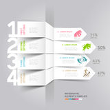 Business and finance stock exchange Infographics. Stock Photos
