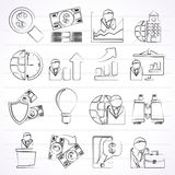 Business and Finance Strategies  Icons. Vector icon set Stock Photography