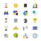 Business and Finance Strategy Flat Color Icons Stock Photography