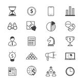 Business and Finance Strategy Icons Line Royalty Free Stock Image