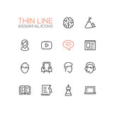 Business, Finance Symbols - thick line design icons set Royalty Free Stock Photos