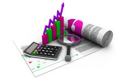 Business finance. Tax, accounting, statistics and analytic research concept Stock Photo