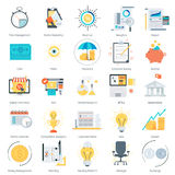 Business and finance theme, flat style, colorful,  icon se. T for info graphics, websites, mobile and print media Stock Photo
