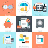 Business and finance theme, flat style, colorful,  icon se. T for info graphics, websites, mobile and print media Stock Photography