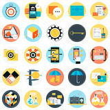 Business and finance theme, flat style, colorful,  icon se. T for info graphics, websites, mobile and print media Stock Image