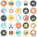Business and finance theme, flat style, colorful,  icon se. T for info graphics, websites, mobile and print media Stock Images