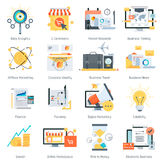 Business and finance theme, flat style, colorful,  icon se. T for info graphics, websites, mobile and print media Stock Photos