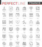 Business finance thin line web icons set. Money outline stroke icons design. Stock Photo