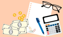 Business and finance top view Royalty Free Stock Image