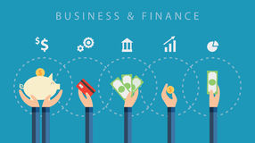 Business and finance vector background Stock Photos