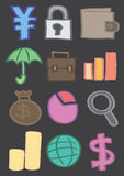 Business and Finance Vector Icon Set in Color Stock Images