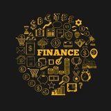 Business and Finance vector icons 1. Business and Finance vector icons. Hand drawn isolated elements for web and mobile concepts. Money, Payments, Financial Stock Image