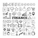Business and Finance vector icons 4. Business and Finance vector icons. Hand drawn isolated elements for web and mobile concepts. Money, Payments, Financial Stock Photos