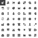 Business and finance vector icons set. Modern solid symbol collection, filled style pictogram pack. Signs, logo illustration. Set includes icons as ATM, Safe Royalty Free Stock Image