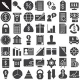 Business finance vector icons set. Modern solid symbol collection, pictogram pack  on white Stock Photo