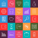 Business and finance vector icons. A set of business and finance contour vector icons Royalty Free Stock Photos
