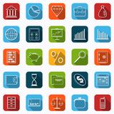 Business and finance vector icons. A set of business and finance flat vector icons Stock Photos