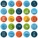 Business and finance vector icons. A set of business and finance flat vector icons Royalty Free Stock Image