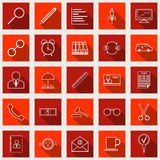 Business and finance vector icons. A set of business and finance flat vector icons Royalty Free Stock Photography