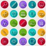 Business and finance vector icons. A set of business and finance flat vector icons Royalty Free Stock Photos