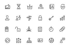 Business and Finance Vector Line Icons 4 Stock Image