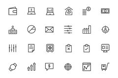 Business and Finance Vector Line Icons 3 Stock Photos