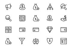 Business and Finance Vector Line Icons 7 Royalty Free Stock Image