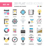 Business and Finance. Vector set of business and finance flat web icons. Each icon with adjustable strokes neatly designed on pixel perfect 64X64 size grid Stock Photo