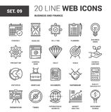 Business and Finance. Vector set of business and finance line web icons. Each icon with adjustable strokes neatly designed on pixel perfect 64X64 size grid Royalty Free Stock Photo
