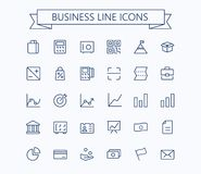 Business,finance vector thin line mini icons set. 24x24 Grid. Pixel Perfect.Editable stroke. Eps 10 Stock Photo
