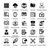 Collection of Business and Management Glyph icons 3. Business and finance web elements collection. Modern concepts of business icons. Designed for web, document Stock Image