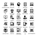 Collection of Business and Management Glyph icons 4 Royalty Free Stock Images