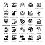 Collection of Business and Management Glyph icons 5. Business and finance web elements collection. Modern concepts of business icons. Designed for web, document Stock Photos