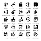 Collection of Business and Management Glyph icons 2. Business and finance web elements collection. Modern concepts of business icons. Designed for web, document Stock Photography