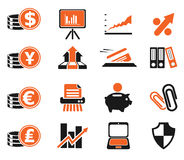 Business and Finance Web Icons. For web Royalty Free Stock Photography