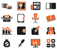 Business and Finance Web Icons. For web Royalty Free Stock Photos