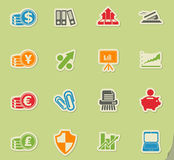 Business and Finance Web Icons. For web icons Stock Images