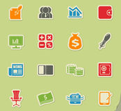 Business and Finance Web Icons. For web icons Royalty Free Stock Photo
