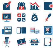 Business and Finance Web Icons Stock Photography