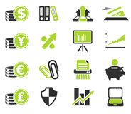 Business and Finance Web Icons Royalty Free Stock Image