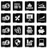 Business and Finance Web Icons. Simply symbol for web icons Royalty Free Stock Photos