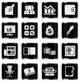 Business and Finance Web Icons. Simply symbol for web icons Stock Images