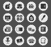 Business and Finance Web Icons Royalty Free Stock Images