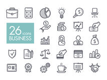 Business and finance web outline icon set. Graph symbol for your web site design, logo, app, UI. Vector illustration, EPS10 Royalty Free Stock Image