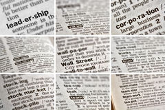 Business Finance Words Set (9 of 9) Stock Image