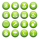 Business & FinanceButtons. 12 icons of business theme Vector Illustration
