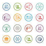 Business and Finances Icons Set. Flat Design. Stock Photography